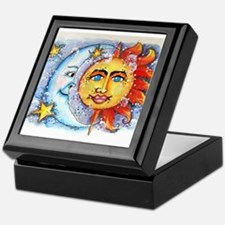 Celestial Sun and Moon Keepsake Box