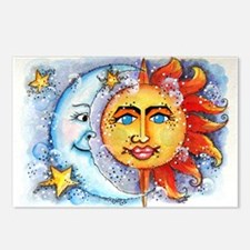Celestial Sun and Moon Postcards (Package of 8)