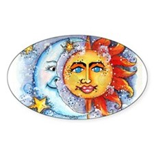 Celestial Sun and Moon Decal