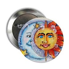 """Celestial Sun and Moon 2.25"""" Button (10 pack)"""
