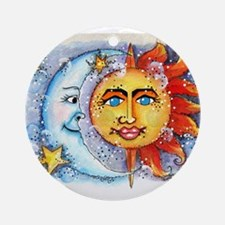Celestial Sun and Moon Ornament (Round)