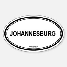 Johannesburg, South Africa eu Oval Decal