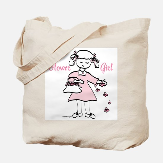 Flower Girl Pretty in Pink Tote Bag