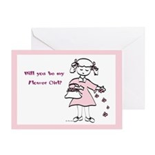 Flower Girl Pretty in Pink Greeting Card