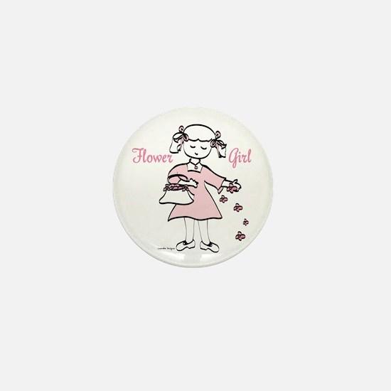 Flower Girl Pretty in Pink Mini Button