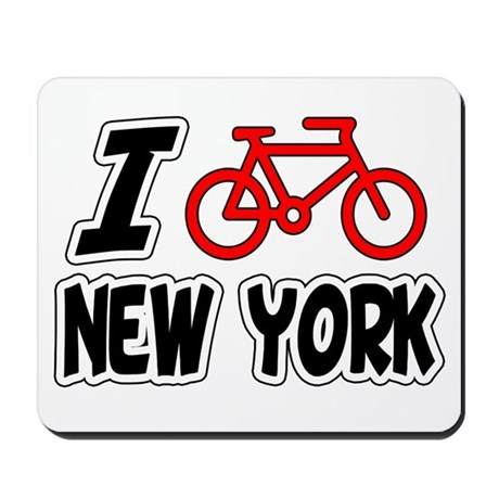 I Love Cycling New York Mousepad