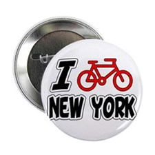 "I Love Cycling New York 2.25"" Button"