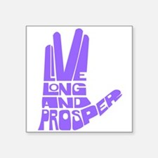 "llap purple.png Square Sticker 3"" x 3"""