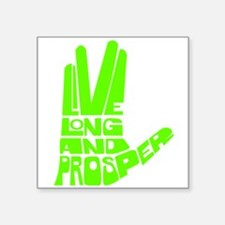 """llap green.png Square Sticker 3"""" x 3"""""""