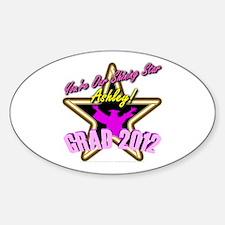 Grad Girls Ashley: 0003 Sticker (Oval)