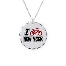 I Love Cycling New York Necklace