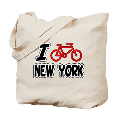 I Love Cycling New York Tote Bag