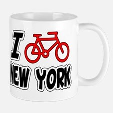 I Love Cycling New York Mug