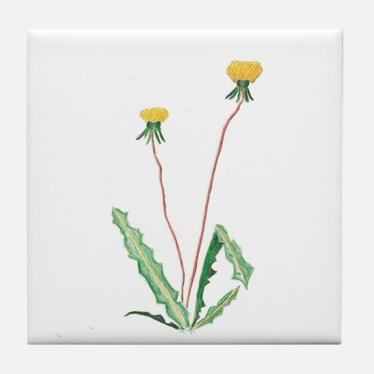Cute Dandelion Tile Coaster