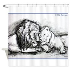 Lions! Wildlife art! Shower Curtain