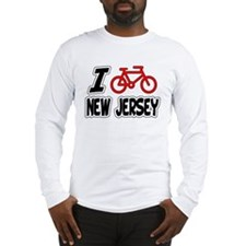 I Love Cycling New Jersey Long Sleeve T-Shirt