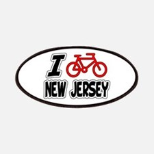 I Love Cycling New Jersey Patches