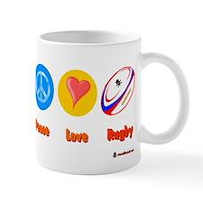 Peace Love Rugby Ball 6000.png Mug