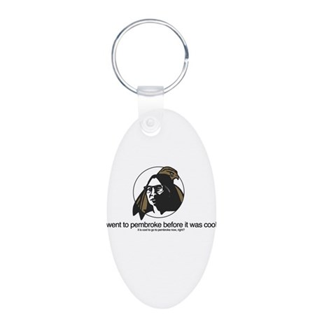 Hipster UNCP Student Aluminum Oval Keychain