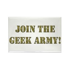 Join The Geek Army Rectangle Magnet
