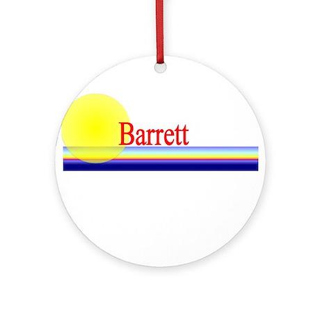 Barrett Ornament (Round)