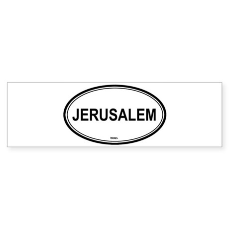 Jerusalem, Israel euro Bumper Sticker
