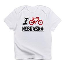 I Love Cycling Nebraska Infant T-Shirt