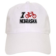 I Love Cycling Nebraska Baseball Cap