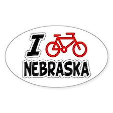 I Love Cycling Nebraska Decal