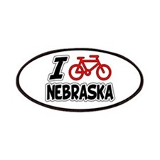 I Love Cycling Nebraska Patches