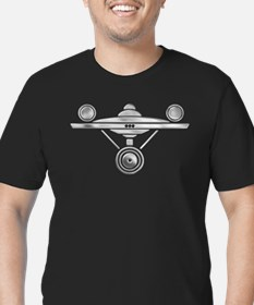 Enterprise Silver Art Men's Fitted T-Shirt (dark)