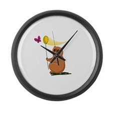 Slow Loris with a Butterfly Net Large Wall Clock