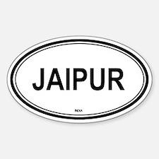 Jaipur, India euro Oval Decal