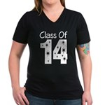 Class of 2014 Gift Women's V-Neck Dark T-Shirt