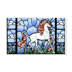 Stained Glass Unicorn Wall Decal