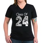 Class of 2024 Gift Women's V-Neck Dark T-Shirt
