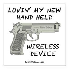 "Wireless Device Square Car Magnet 3"" x 3&quot"