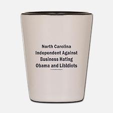 North Carolina Independent Shot Glass