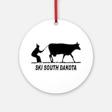 Ski South Dakota Ornament (Round)