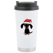 Doxie Clause Stainless Steel Travel Mug