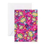 Little Hippie Girl Pattern Cards (Pk of 20)