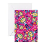 Little Hippie Girl Pattern Cards (Pk of 10)