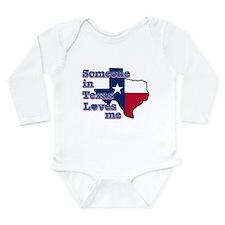 Funny Texas state flag Long Sleeve Infant Bodysuit