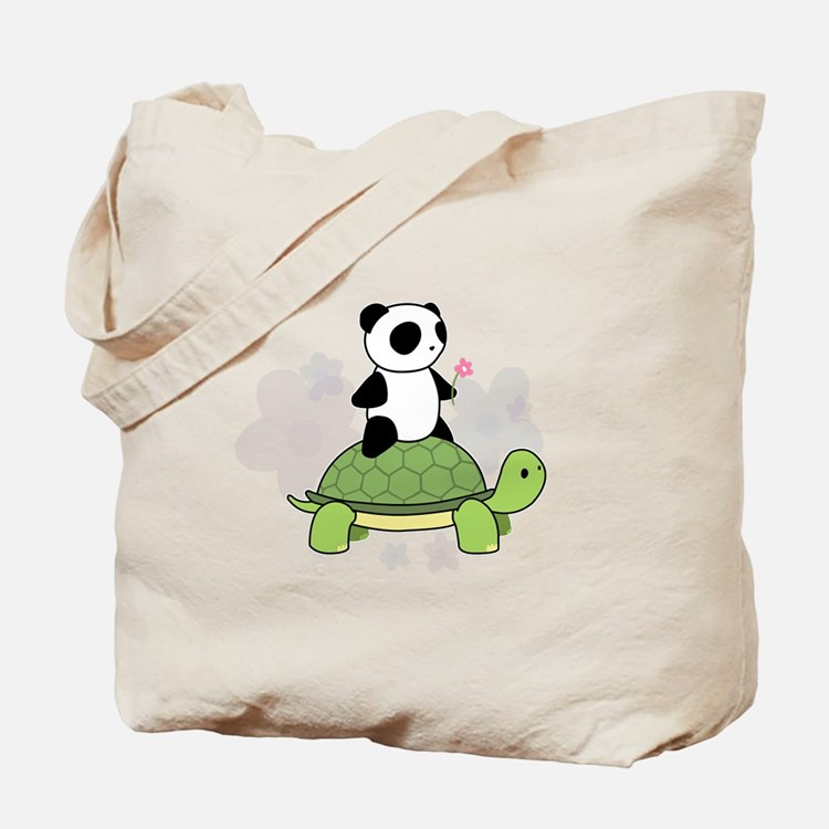 Turtle and Panda 1 Tote Bag