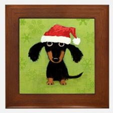 Doxie Clause Framed Tile