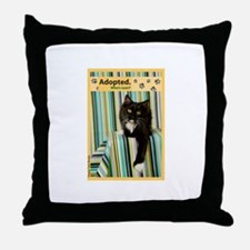 B/W Cat Throw Pillow