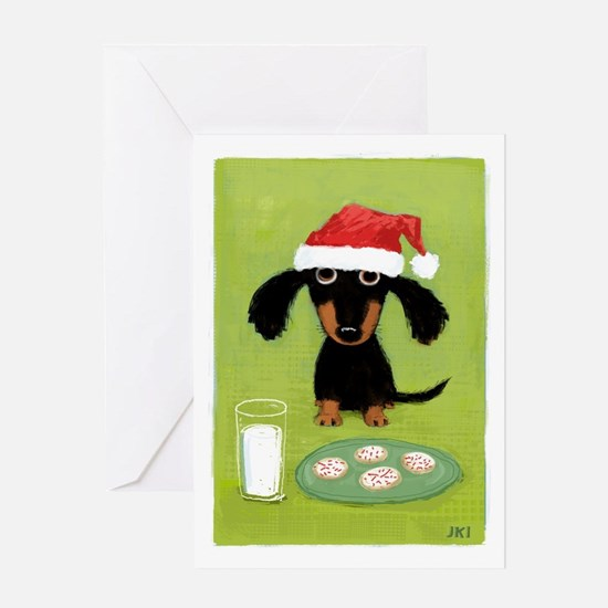 Doxie Clause Greeting Card