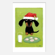 Doxie Clause Postcards (Package of 8)