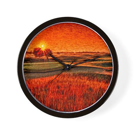 Fiery Sunrise Clock