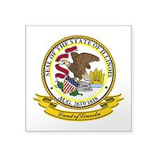 "Illinois Seal.png Square Sticker 3"" x 3"""